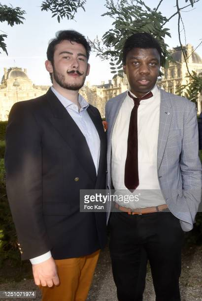 Art Dealer/pianist Valentin Cavaille de Nogaret and Jean Barthelemy Bokassa attend Valentin Cavaillé de Nogaret Birthday Party at Jardin du Carrousel...