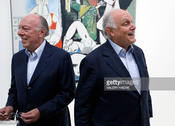 CAPTION Art dealers David Nahmad and his brother Ezra Nahmad pose in a room of the exhibition dedicated to Spanish painter Pablo Picasso on July 12...