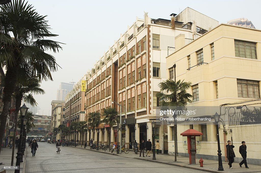 Art deco architecture in the French Concession area, Shanghai, China, Asia : Stock Photo