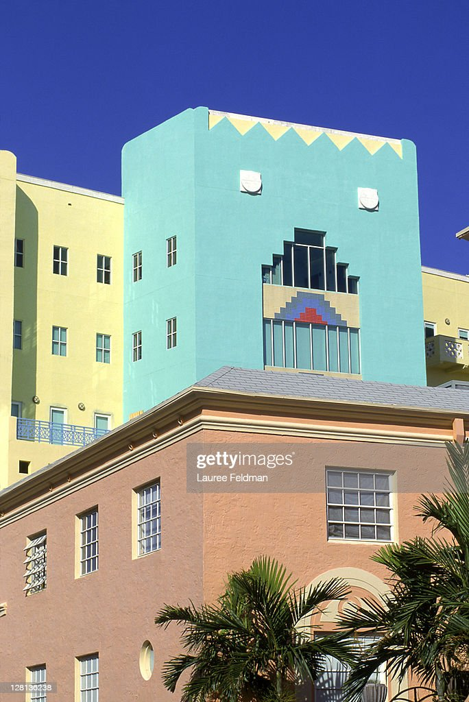 Art deco architecture, South Miami Beach, FL : Stock Photo