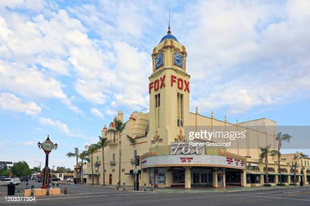 art deco building with tower used as theater and cinema - rainer grosskopf foto e immagini stock