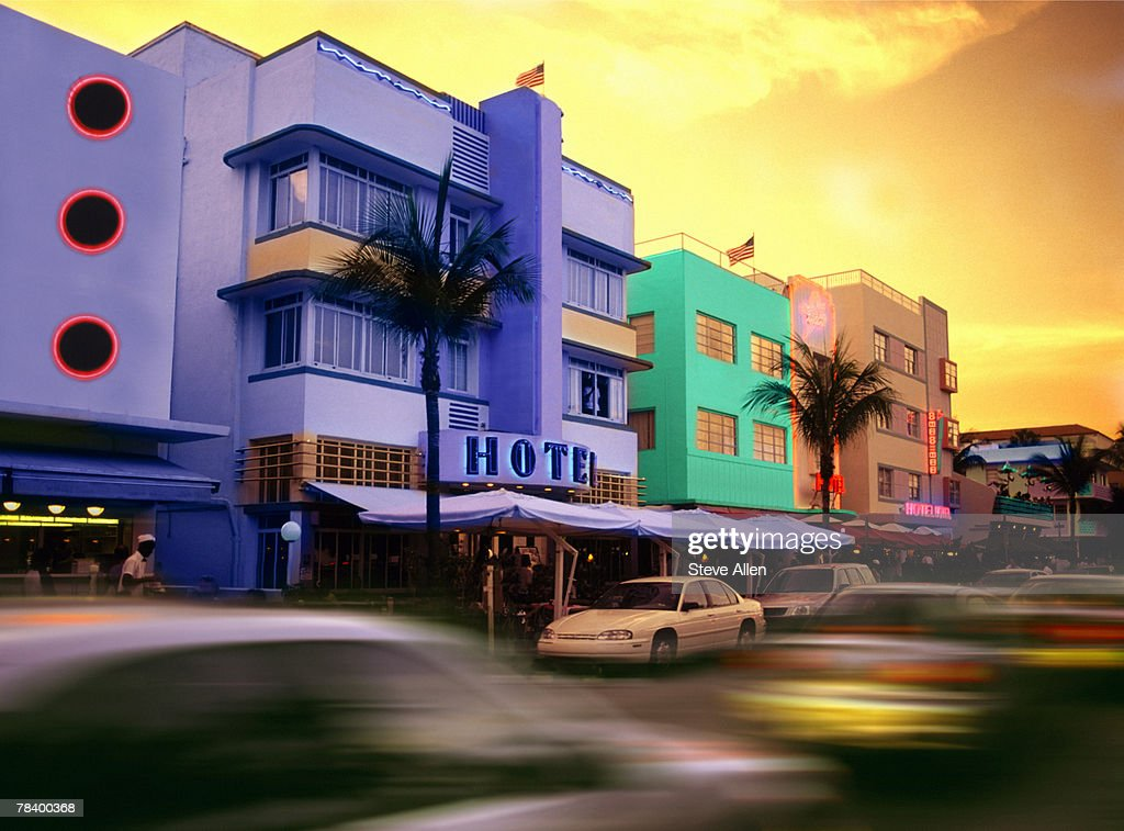 art deco buildings in miami beach stock photo getty images