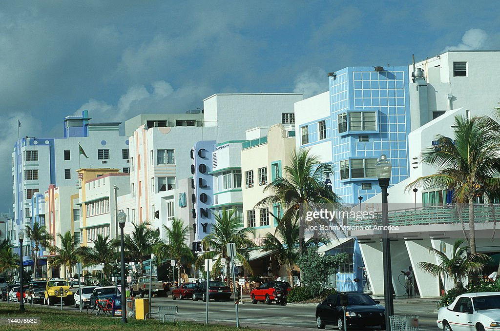art deco district of south beach florida pictures getty images