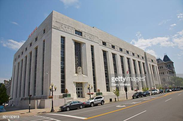 art deco facade of albany's u.s. courthouse - government building stock pictures, royalty-free photos & images