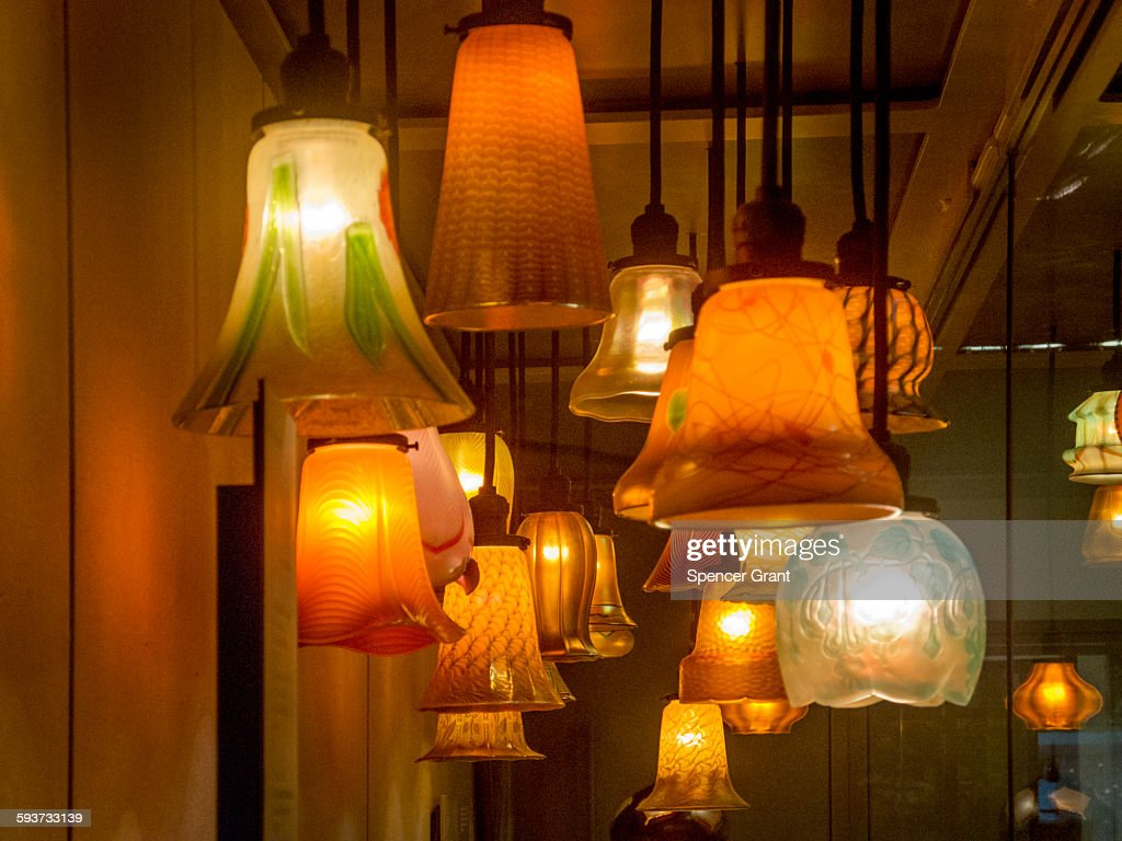 Picture of: Art Deco Glass Lampshades High Res Stock Photo Getty Images