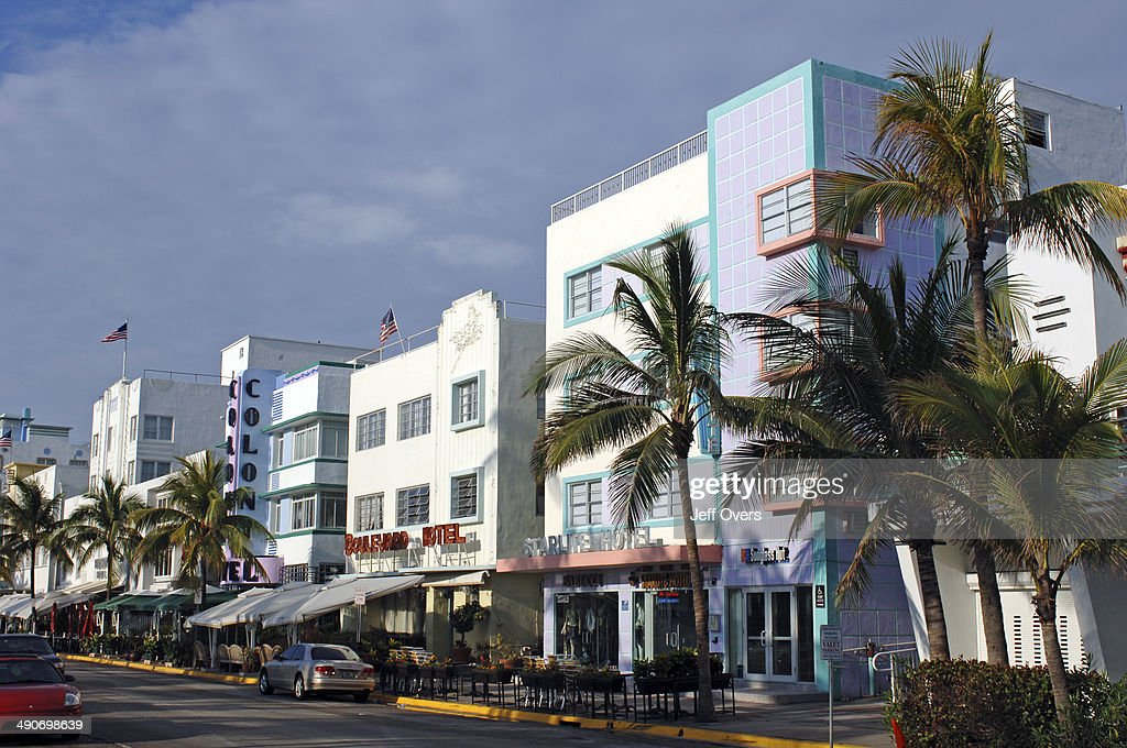 Art Deco Hotels On Ocean Drive In South Beach Miami Florida