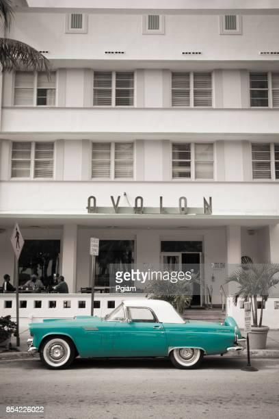 Art Deco hotels op Ocean Drive in South Beach Miami Florida USA