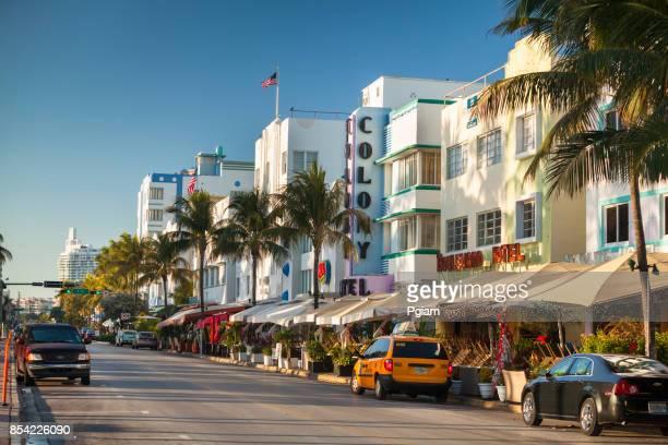 Hoteles Art Deco en Ocean Drive en South Beach Miami Florida Estados Unidos
