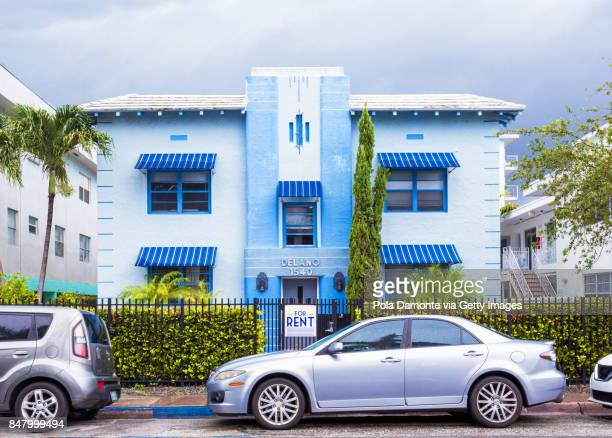 Art deco house in South Beach, Miami, Florida, USA