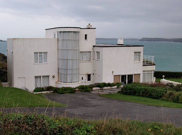 art deco house long cove near harlyn cornwall pictures getty images