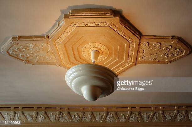 Art deco style ceiling