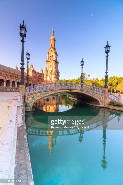 art deco style, plaza de espana, seville - moruno fotografías e imágenes de stock