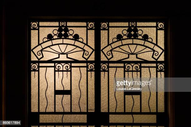 art deco styled door - art deco stock pictures, royalty-free photos & images