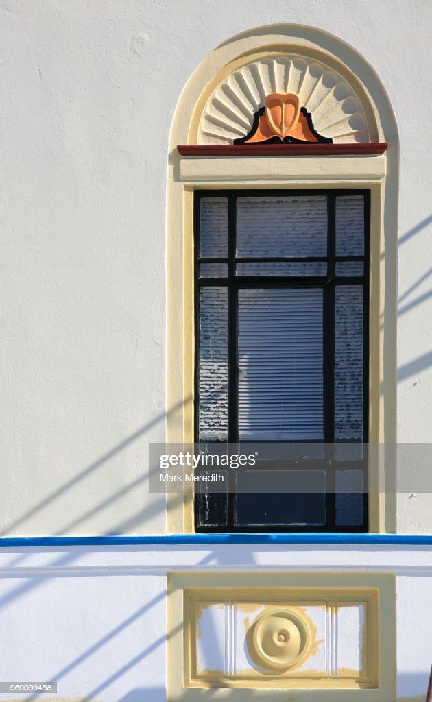 Art Deco window in Napier : Stock-Foto