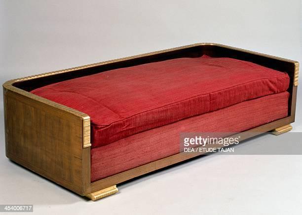 Art Decostyle sofa Ducharnebronz model by JacquesEmile Ruhlmann Rio rosewood veneer France 20th century