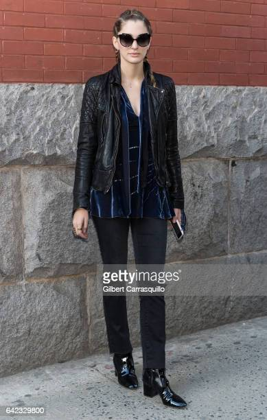 Art Director and Fashion Consultant Sofia Sanchez de Betak is seen arriving at the Marc Jacobs Fall 2017 Show at Park Avenue Armory on February 16...