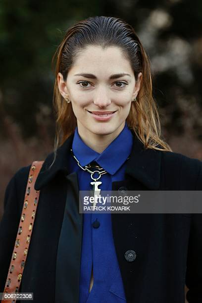 Art Director and fashion consultant Sofia Sanchez de Betak poses during the photocall before the Christian Dior show during the 2016 spring/summer...