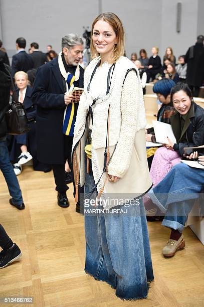Art Director and fashion consultant Sofia Sanchez de Betak poses prior the Chloé the 20162017 fall/winter readytowear collection fashion show on...