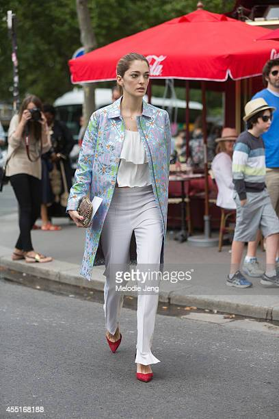 Art Director and UnderOurSkycom founder Sofia Sanchez Barrenechea enters Dior on Day 2 of Paris Haute Couture Fashion Week Autumn/Winter 2014 on on...