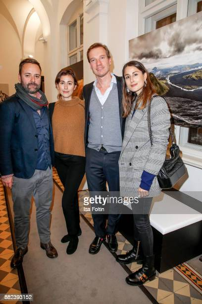 Art director Andreas Volleritsch blogger Sylvia Haghjoo Nils Behrens and blogger Julia Haghjoo during the event 'LANS Medicum celebrates its 5th...