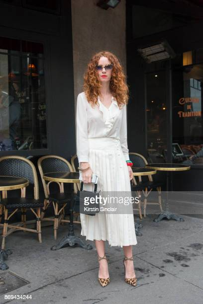 Art Director Carmel Walsh day 3 of Paris Womens Fashion Week Spring/Summer 2018 on September 28 2017 in Paris France