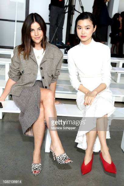 Art director Julia Restoin Roitfeld and model Estelle Chen attend the Calvin Luo front Row during New York Fashion Week The Shows at Gallery I at...