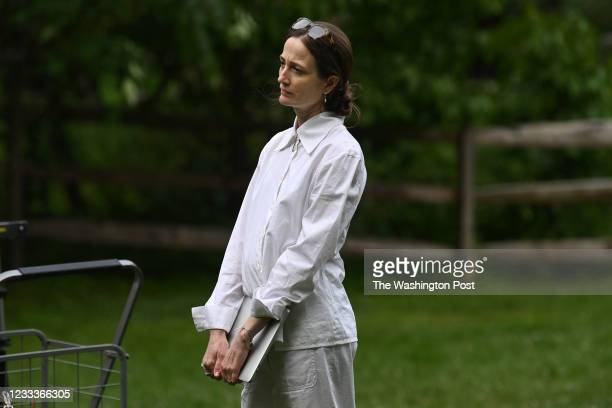 Art director, Julie Kent watches filming for Silas Farley's Werner Sonata by the Washington Ballet at Wolf Trap National Park for the Performing Arts...