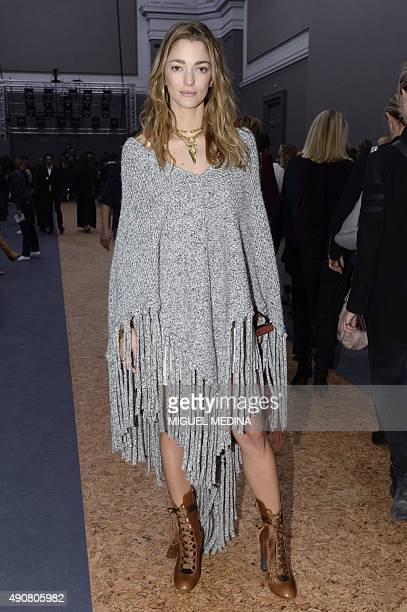 Art director Sofía Sanchez Barrenech poses during Chloe 2016 Spring/Summer readytowear collection fashion show on October 1 2015 in Paris AFP PHOTO /...
