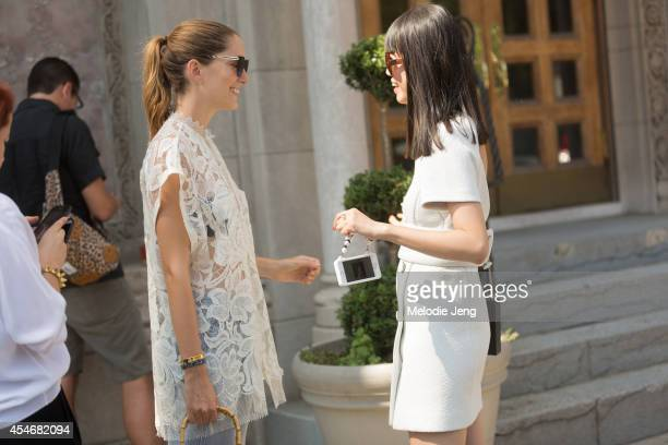 Art Director Sofia Sanchez Barrenechea and Fashion Stylist Leaf Greener on Day 1 of New York Fashion Week Spring/Summer 2015 in New York City