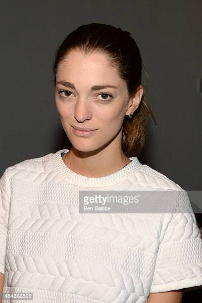 Art director Sofia Sanchez Barrenechea attends the Thakoon Fashion Show during MercedesBenz Fashion Week Spring 2015 at SIR Stage 37 on September 7...