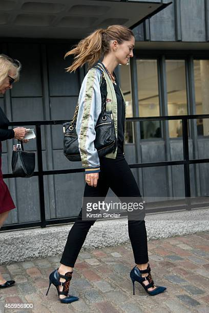 Art Director Sofia Sanchez Barrenechea is wearing Nicholas Kirkwood for Peter Pilotto shoes on day 4 of London Collections Women on September 15 2014...