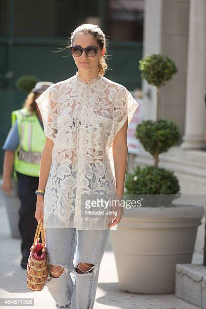 Art Director Sofia Sanchez Barrenechea on Day 1 of New York Fashion Week Spring/Summer 2015 in New York City