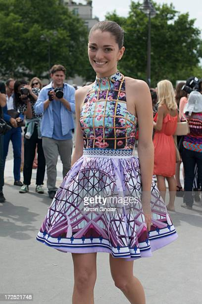 Art Director Sofia Sanchez Barrenechea on day 1 of Paris Collections Womens Haute Couture on July 01 2013 in Paris France