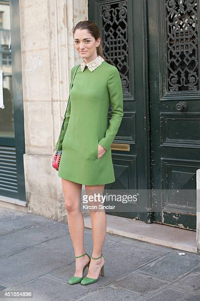 Art Director Sofia Sanchez Barrenechea wearing wearing all Valentino on day 1 of Paris Collections Men on June 25 2014 in Paris France Photo by...