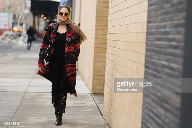Art Director Sofia Sanchez de Betak enters the Honor show at Streets of Manhattan on February 12 2015 in New York City