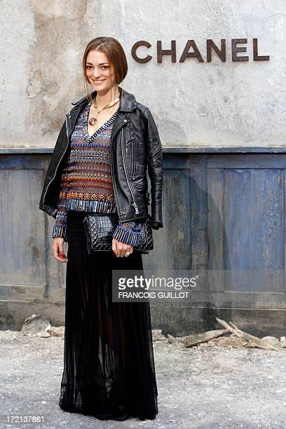 Art director Sofia SanchezBarrenechea poses during a photocall prior to the Chanel Haute Couture FallWinter 2013/2014 collection shows on July 2 2013...