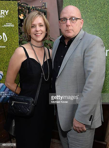 Art directors Ellen Lampl and Rodney Becker attends the AMC Networks and IFC Films Spirit Awards After Party on February 21 2015 in Santa Monica...