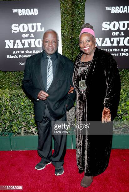 Art Evans and Babe Evans attend The Broad Museum celebration for the opening of Soul Of A Nation Art in the Age of Black Power 19631983 Art...