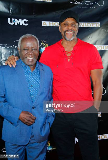 Art Evans and LawrenceHilton Jacobs arrive at UMC's A House Divided Screening at Seventy7 North on July 11 2019 in Studio City California