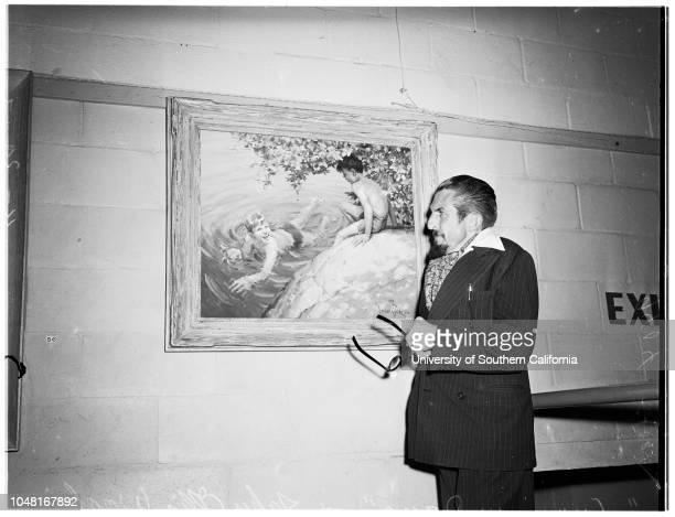 Art Exhibition 20 November 1951 Mary Jarrett John Ellis Wool Cyril AldrittOrpha Klinker'Blossom Smoke' 'House on the Cliff' 'Summer Days'...