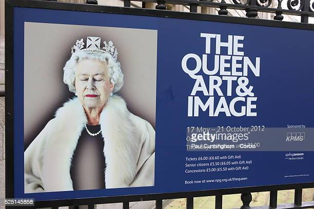 Art Exhibition at the National Portrait Gallery features the Queen London 1 June 2012 Image by �� Paul Cunningham/Corbis