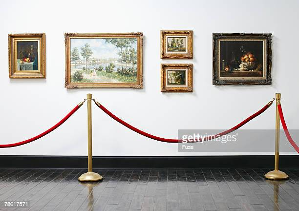 art exhibition - roped off stock photos and pictures