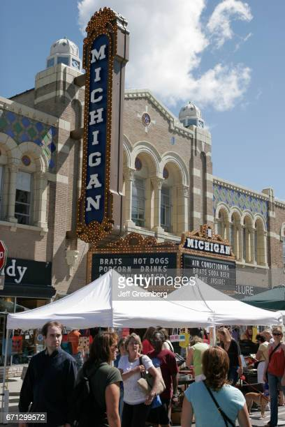 Art Fairs in front of Michigan Theater.