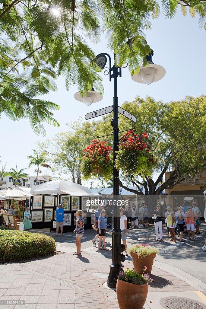 Art Festival on 5th Avenue in Naples Florida : Stock Photo