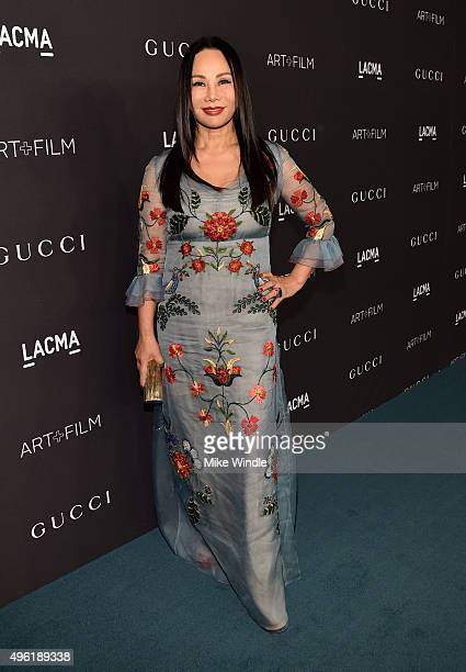 Art Film Gala cochair and LACMA Trustee Eva Chow wearing Gucci attends LACMA 2015 ArtFilm Gala Honoring James Turrell and Alejandro G Iñárritu...