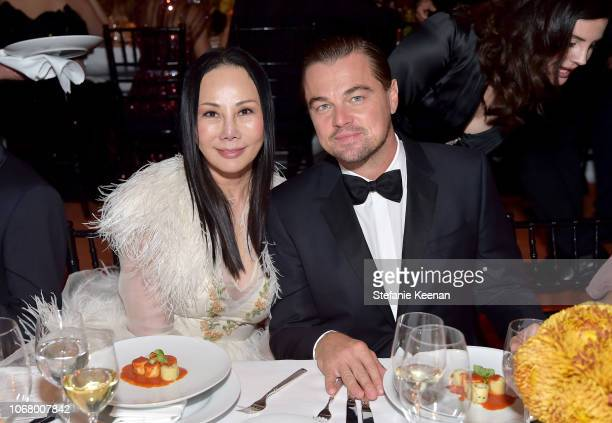 Art Film Gala cochairs Eva Chow and Leonardo DiCaprio both wearing Gucci attend 2018 LACMA Art Film Gala honoring Catherine Opie and Guillermo del...