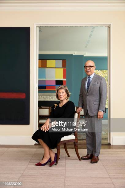 Art for Justice Fund Agnes Gund and Darren Walker are photographed for Town Country Magazine on December 7 2017 in New York City PUBLISHED IMAGE