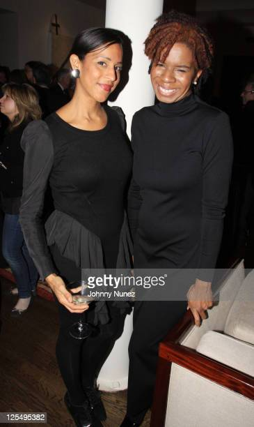 """Art For Life's Vanessa Rodriguez and Tangie Murray attend """"The Next Big Story"""" book launch party on November 12, 2010 in New York City."""