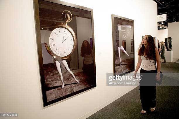 Art from Sperone Westwater on display during Art Basel Miami 2006 at the Miami Beach Convention Center on December 7 2006 in Miami Florida