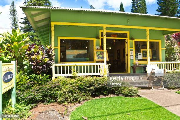 art gallery in lanai city of lanai island of hawaii - lanai stock photos and pictures